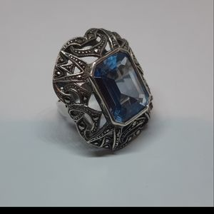 Genuine Topaz and Sterling Silver Ring